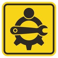 Symbol Service Tool,Maintenance worker label vector