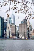 new york city skyline on a cloudy day photo