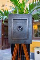 An old camera in Rio de Janeiro. photo
