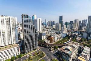 Bird's-eye view of many buildings in Bangkok photo