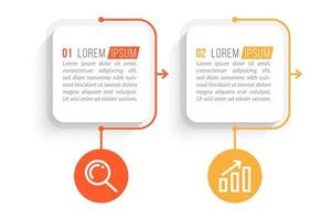Business Concept With 2 Options or Steps vector