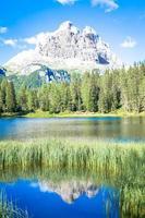 Mountain landscape of Dolomiti Region, Italy. photo