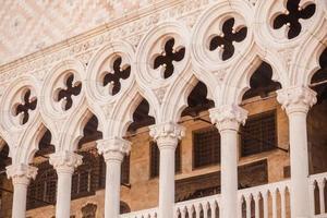 Venice, Italy - Columns perspective photo