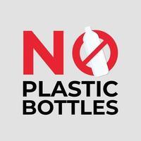 No plastic bottles. vector