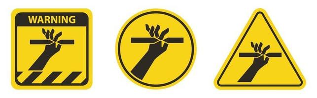 Cutting of Fingers Symbol Sign on White Background vector