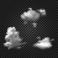 Nature sky weather symbols rain or snow cloud vector collection
