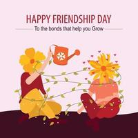 Poster of International Friendship Day vector