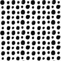 Abstract minimalist seamless pattern hand drawn grunge black ink dots vector