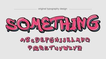 Pink Dripping Graffiti Typography vector