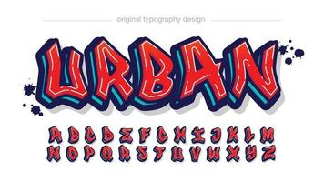 Red Modern Graffiti Typography vector