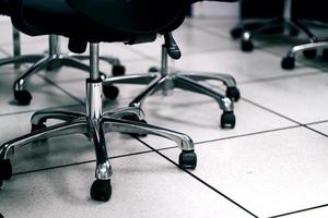 Close up chair in the meeting room. business concept photo