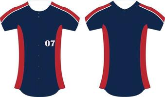Full Button and Two Button Jersey vector