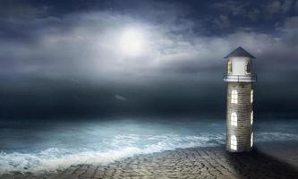 Night at the lighthouse photo