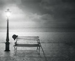 Fondo de recuerdos en blanco y negro. foto