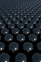 Representación 3D de fondo de esfera negra foto
