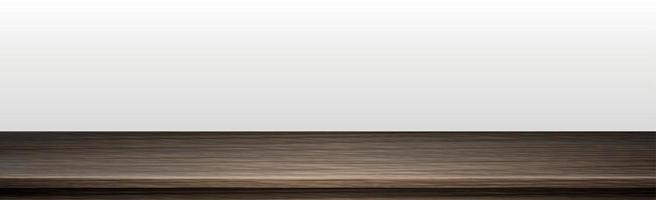 Large table top, solid wood texture, white background - Vector