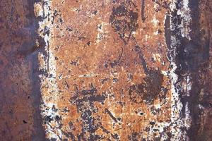 Rust on surface of the old iron photo