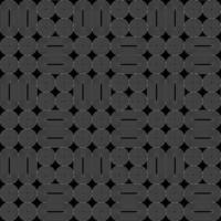 seamless geometric white line vector pattern on black background