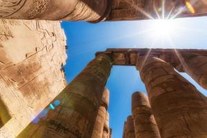 antique columns in a karnak temple in luxor photo
