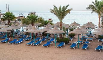 empty beach without people in Hurghada Egypt photo