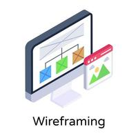 Wireframing and Layout vector