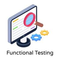 Functional Testing and Analytics vector