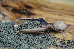 Anise seed on olive wood photo