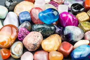 mixed colorful jewels photo