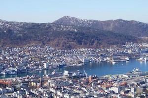 bergen desde la perspectiva del monte floyen foto