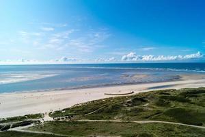 el blavand danés desde la perspectiva del antiguo faro famoso foto