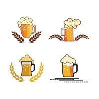 Drink beer logo images illustration design vector