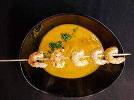 sopa de calabaza de hokkaido foto