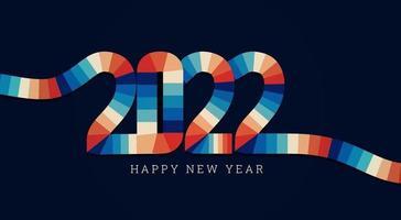 retro 2022 interlace design vector