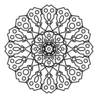 Mandala for Coloring book page vector