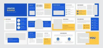 Creative business presentation template vector
