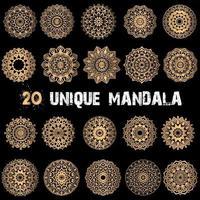 20 Luxury mandala set vector