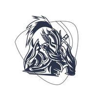 ninja warrior inking illustration artwork vector