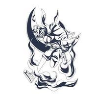 girls fighter inking illustration artwork vector