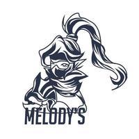 melody's inking illustration artwork vector