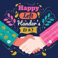 Happy Left Hander's Day Background Template vector