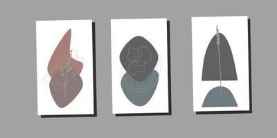 Modern minimalist abstract aesthetic illustrations vector