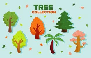 colecciones de iconos de árboles vector