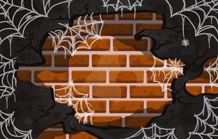 fondo de tela de araña vector