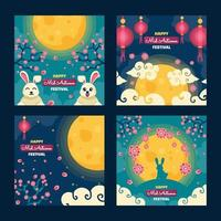 Mid Autumn Festival Card Collections vector