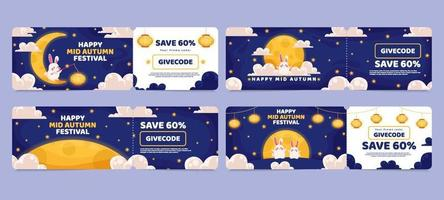 Mid Autumn Marketing Card vector