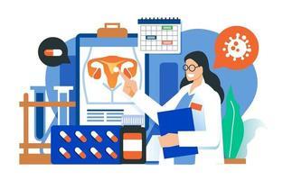 Doctor Explains Ovarian Cancer vector