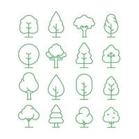 Trees Icon Collection vector