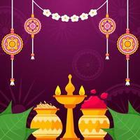 celebración del día de rakhi raksha bandhan vector