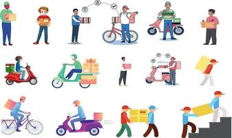 Delivery Truck Online delivery boy  Mover Delivery Character  Vector