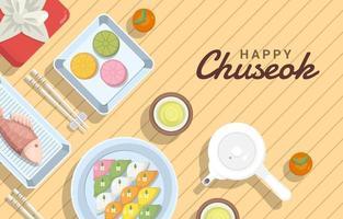 Food for Chuseok Celebration Background vector